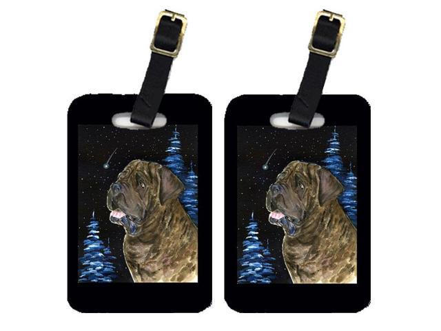Starry Night Mastiff Luggage Tags Pair of 2
