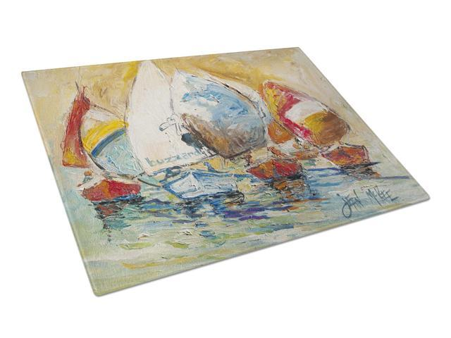 Buzzards Sailboat Race Glass Cutting Board Large JMK1037LCB
