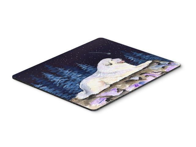 Starry Night Great Pyrenees Mouse Pad / Hot Pad / Trivet