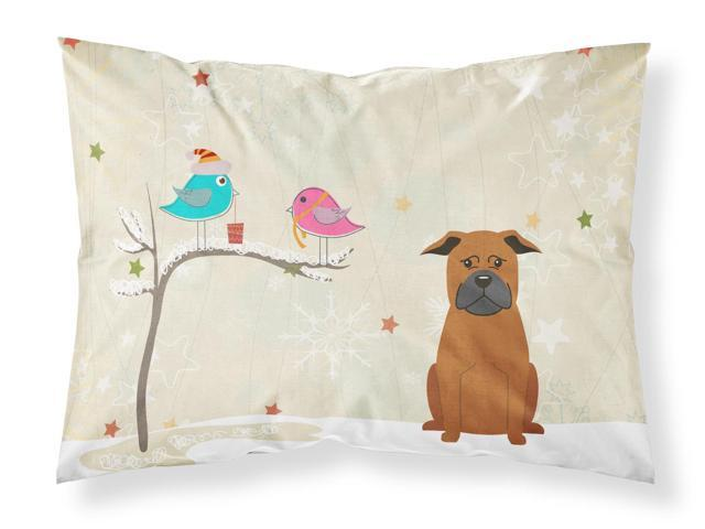 Christmas Presents between Friends Chinese Chongqing Dog Fabric Standard Pillowcase BB2583PILLOWCASE
