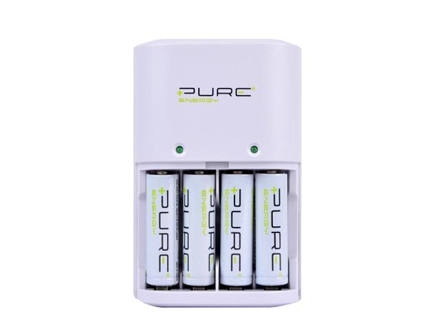 Pure Energy EDC4-A Alkaline/Ni-MH Battery Charger w/4 AA 1.5V 2000mAh Rechargeable Alkaline Batteries