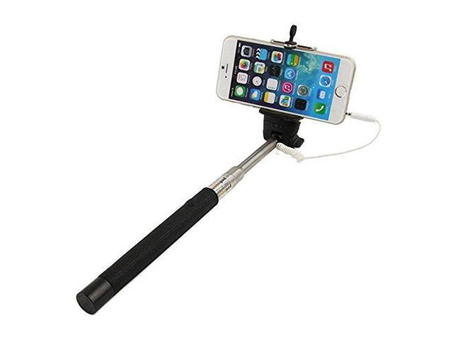 kfly extendable cable control no bluetooth matching monopod selfie stick for iphone 6 6plus 5s. Black Bedroom Furniture Sets. Home Design Ideas