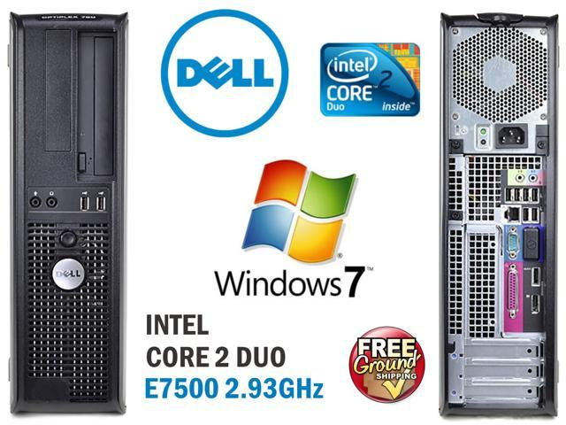 Dell Optiplex 760 Desktop PC - Core 2 Duo 2.93GHz Intel E7500, 4GB RAM, 250GB Hard Drive, DVD ROM, Windows 7 Professional 64 Bit