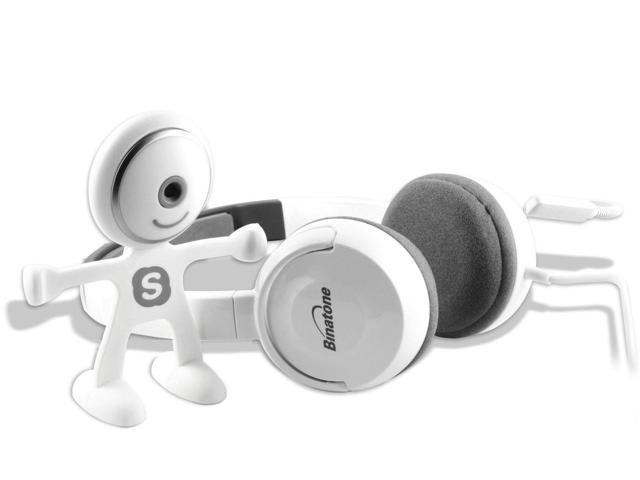 Skype Starter Kit - HD Webcam and Headset (white)