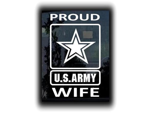 Proud Amy Wife Military Decals 7 Inch