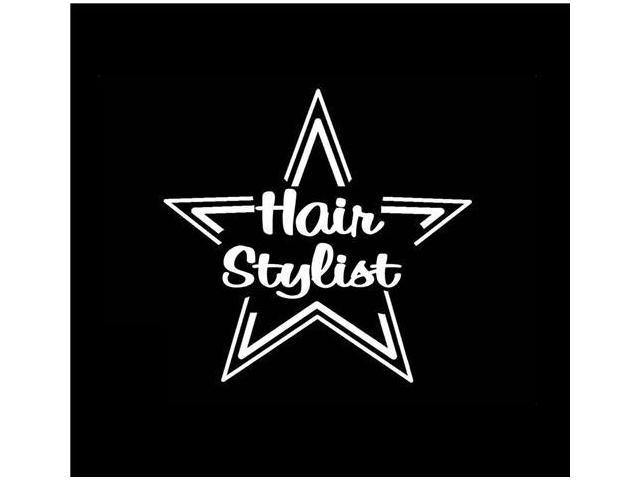 Hair Stylist Beautician Star Custom Decals 5 Inch
