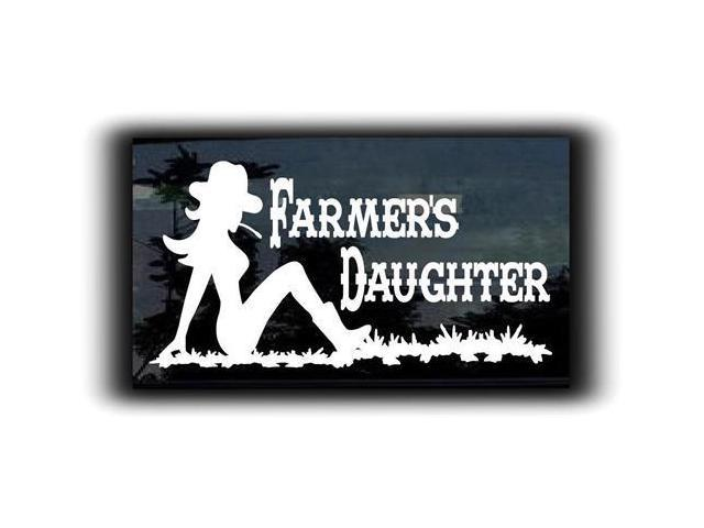 Farmers Daughter Decal  7 inch