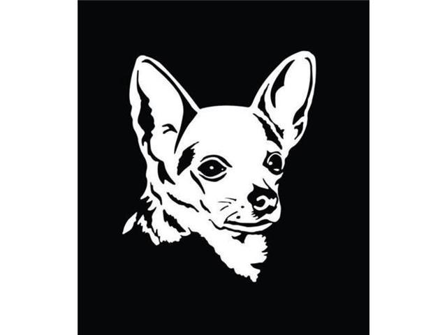 Chihuahua Sillhouette Animal Stickers 7 Inch