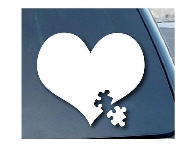 Autism Awareness Heart Puzzle Decal 5.5 inch