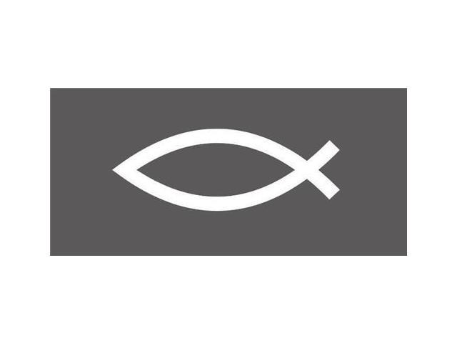 Jesus Fish Christian Decal 7 inch