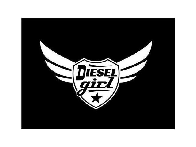 Diesel Girl Winged Rolling Coal Decal 7 inch