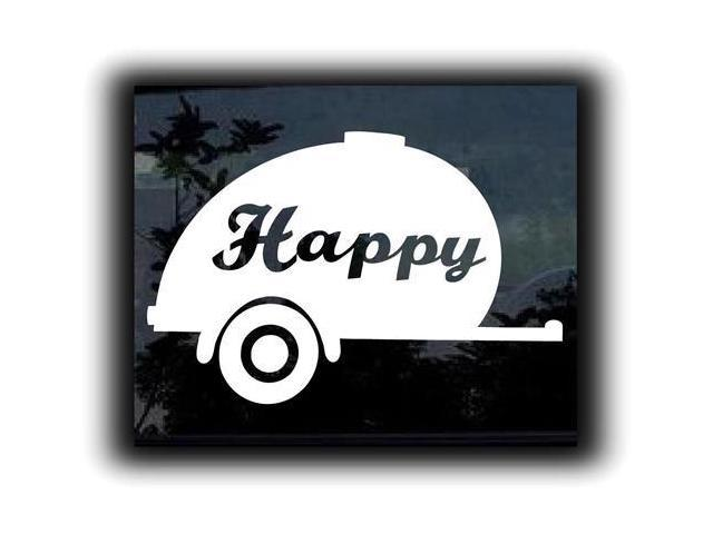 Happy Camper Custom Decals 5 Inch