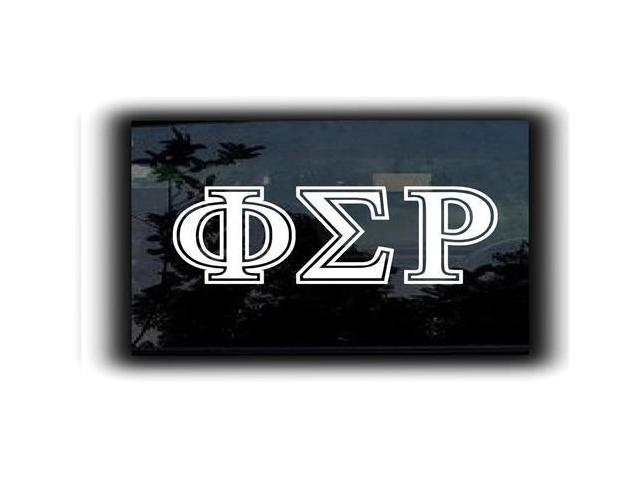 Phi Sigma Rho Fraternity Decal 7 inch
