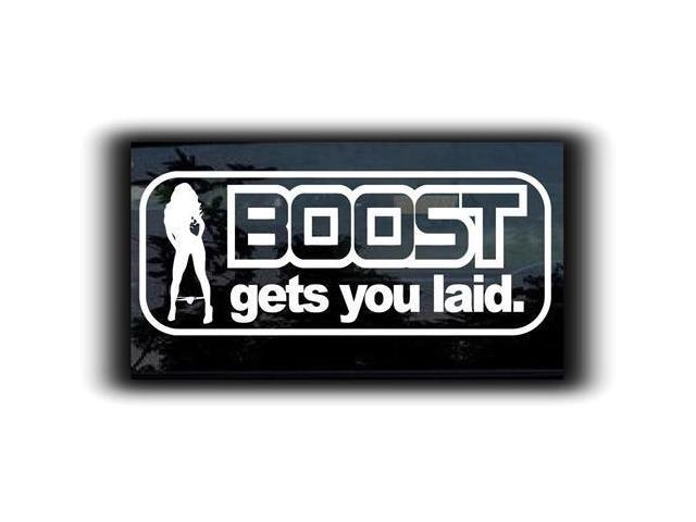 Boost Gets You Laid JDM Decals 7 Inch