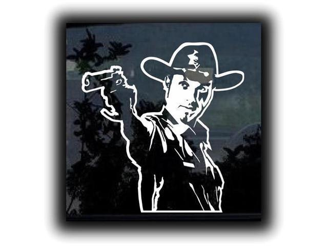 Rick Grimes Walking Dead Decal  7 inch