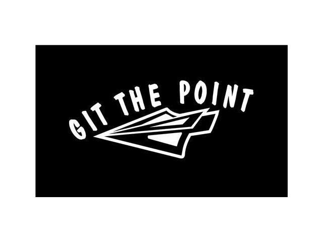 Git the point Braodhead bow hunting Decal 7 inch