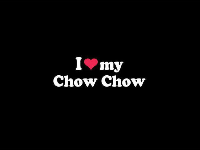 I love My Chow Chow Crested Custom Decal Sticker 7.5 inch