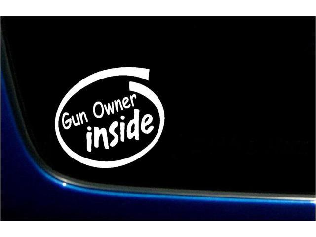 Gun Owner Inside Funny Gun Rights Custom Decal Sticker 5.5 inch