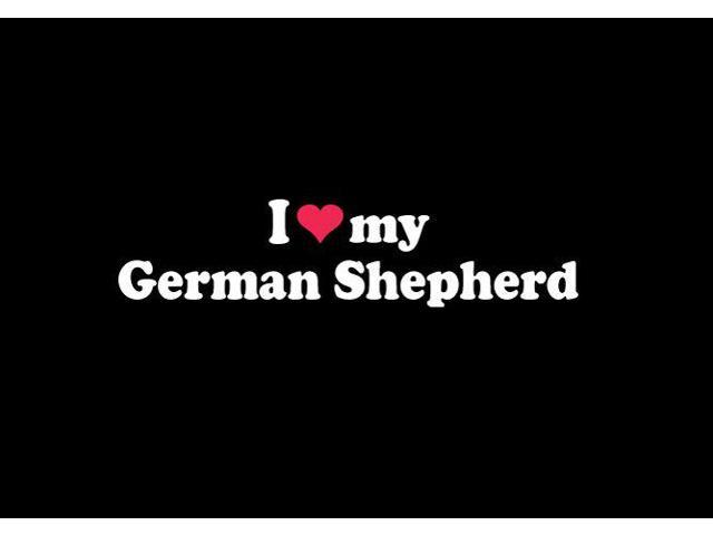 I love My German Shepherd Custom Decal Sticker 7.5 inch