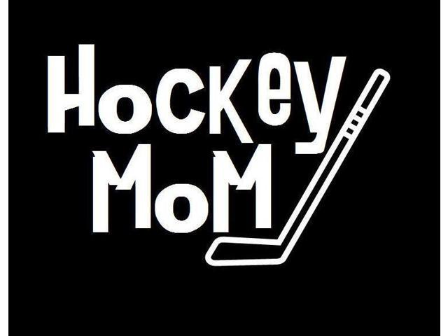 Hockey Mom Hockey Stick Custom Decal Sticker 5.5 inch