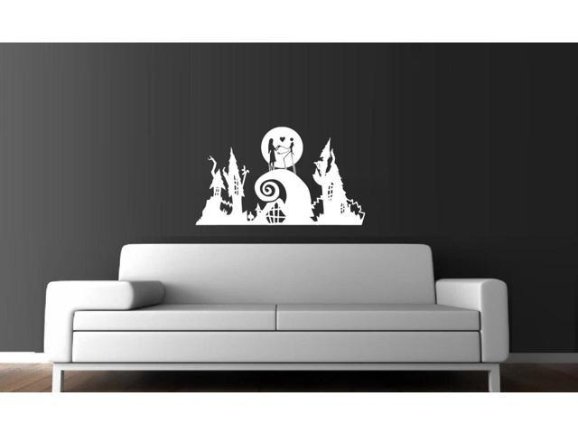 Jack & Sally Nightmare before Christmas Vinyl Wall Decal 18 inch