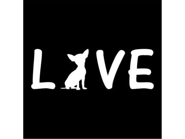 I love My chihuahua Silhouett Custom Decal Sticker 7.5 inch
