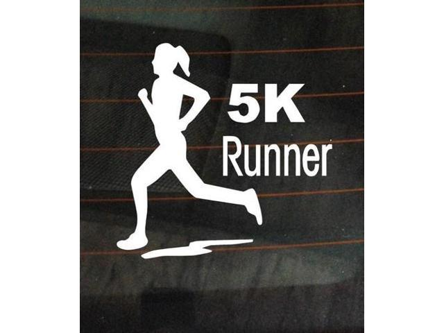 5K marathon runner running Stickers For Cars 5 Inch