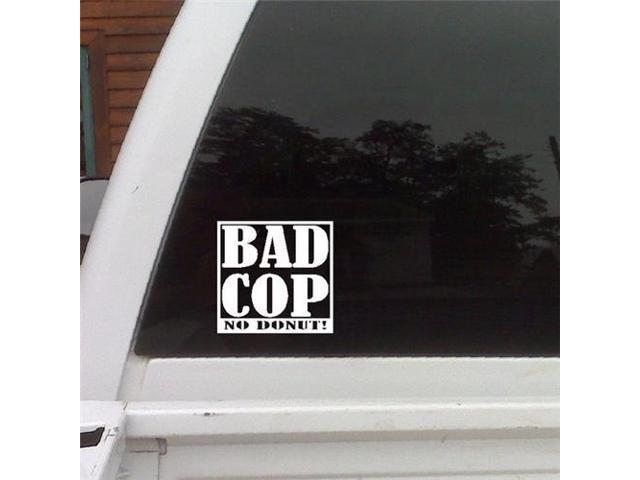 Bad Cop No Donut Funny JDM Stickers For Cars 5 Inch