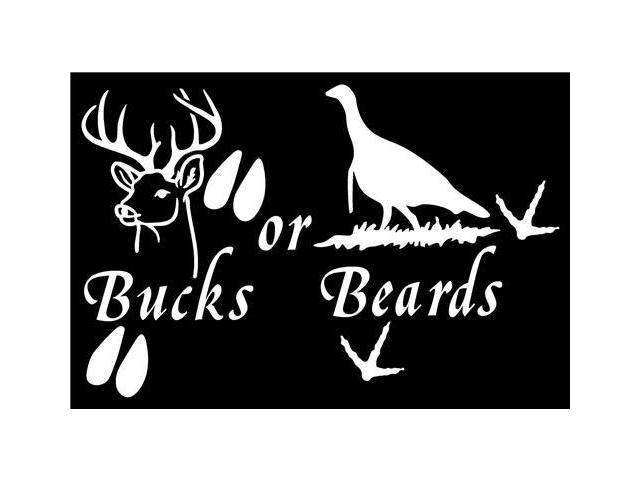 Bucks Or Beards hunting decals 5 Inch