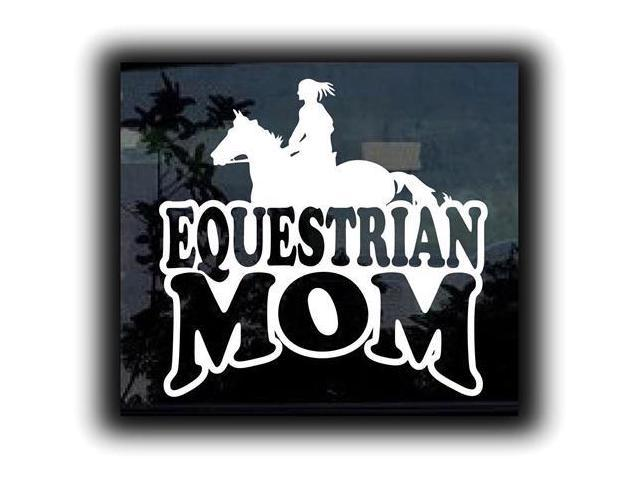 Equestrian Horse Mom Girl Stickers For Cars 7 Inch