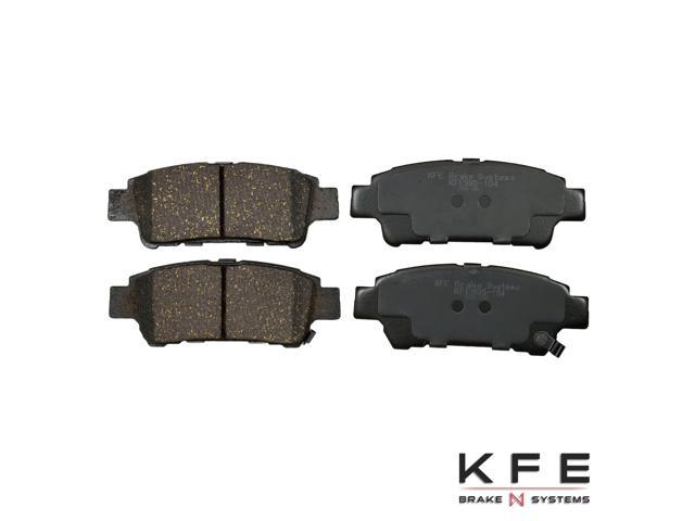 Rear Premium Ceramic Disc Brake Pad Set + Shims Fits 04-10 Toyota Sienna Rear Disc KFE995-104