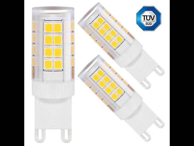 3-PACK 110V 3.5W G9 LED Bulb, 40W Equivalent 2700K Warm White LED G9 ...