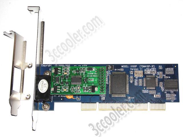 X100P Wildcard Analog Card + 1*S100M (FXS) + PCI bus,support asterisk trixbox elastix