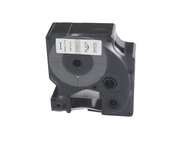 Nextpage Label tape compatible for Dymo45803 Black on white 0.7''x22.9ft (18mm x 7m) use with P-touch machine