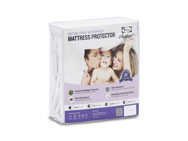 Furinno Angeland Terry Cloth Waterproof Mattress Protector, King
