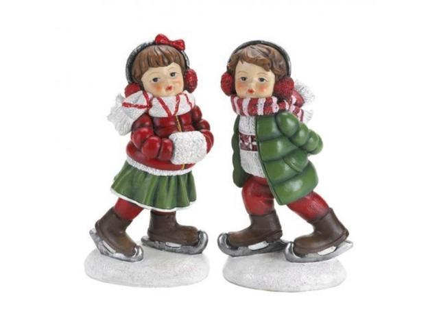 Holly and Noel Ice Skating Figurine Set