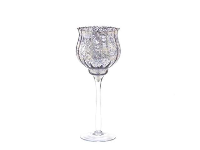 Speckled Glass Chalice Candle Holder - 11.5 inches