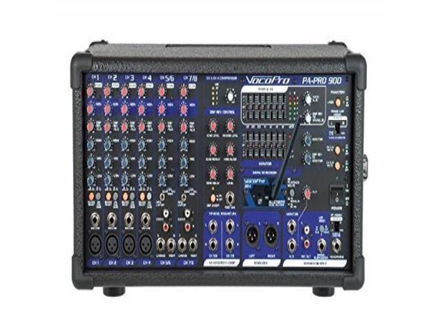 PA-PRO-900-BT - 900W Professional P.A. Mixer with Bluetooth receiver