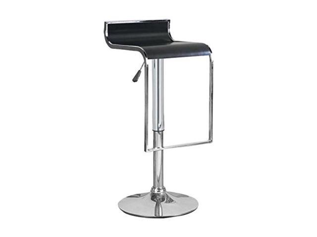 Hudson Black Adjustable Height Swivel Bar Stool Newegg Com