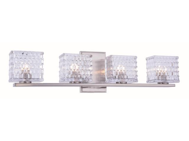 Ankara Collection 4-Light Burnished Nickel Finish Wall Sconce, Vanity