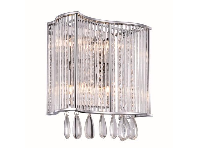 Aspen Collection 4-Light Chrome Finish Wall Sconce