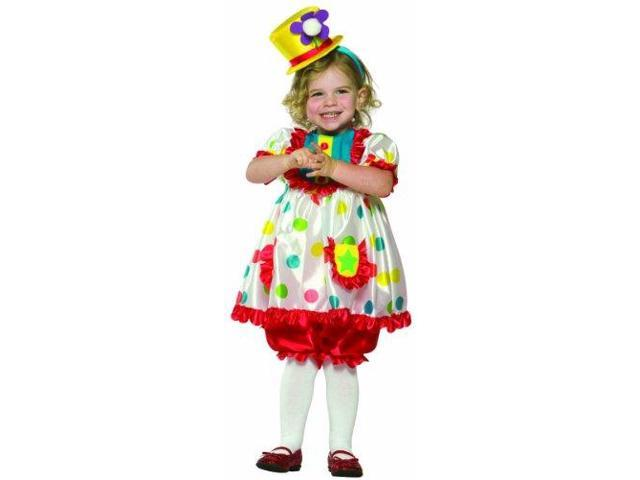 Clown Girl Costume Toddler 3T-4T