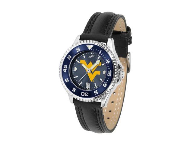 NCAA West Virginia Mountaineers Competitor Ladies' AnoChrome Color Bezel Watch