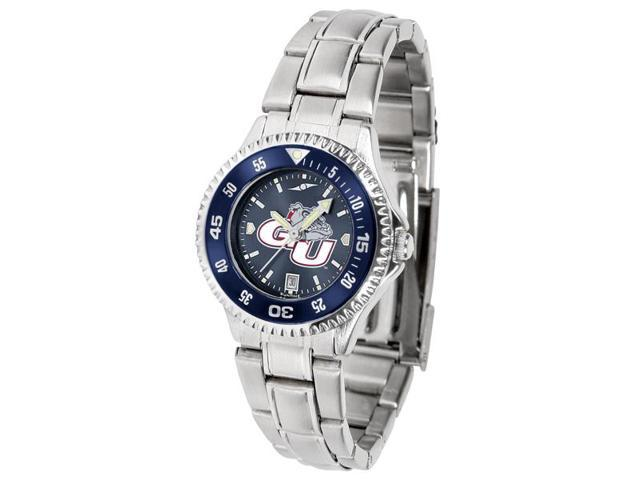 NCAA Gonzaga Bulldogs Competitor Ladies' Steel AnoChrome Color Bezel Watch