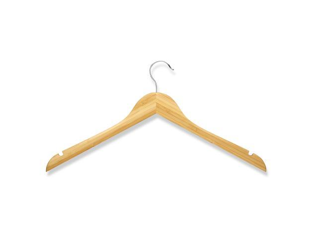 Honey Can Do HNGZ01531 10 pack wood shirt hanger- Bamboo
