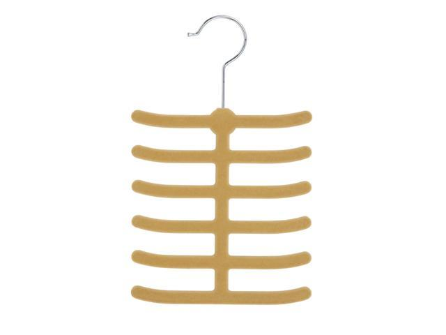 Honey Can Do HNGZ01946 20 Pack 12 Hook Tie Hanger- Tan