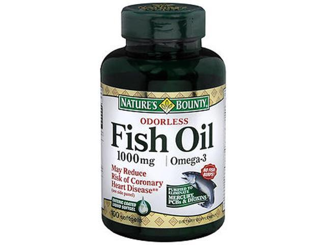 Nature 39 s bounty odorless fish oil 1000 mg softgels 100 for Nature s bounty fish oil