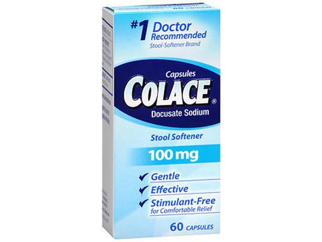 Colace Stool Softener Laxative 100mg 60 Capsules