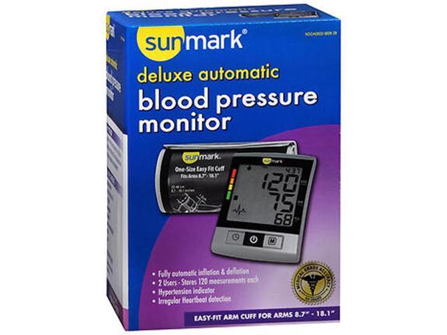 sunmark blood pressure monitor instructions