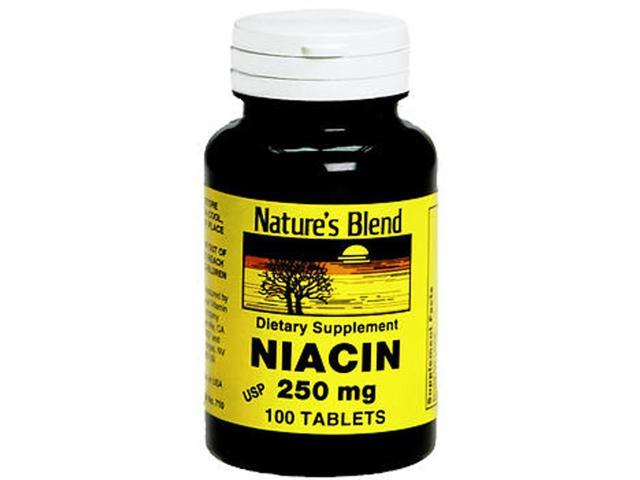 Nature's Blend Niacin 250 mg Tablets - 100 ct